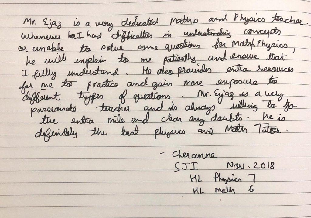 Cheranne - (SJI Indp) - 2018 - Grade 6